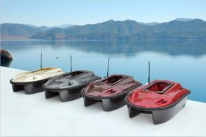 China Waterproof 400M twin-hull RC Bait Boats for Fishing and entertaining manufacturers on sale