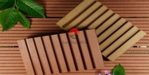 China Sunshien WPC Outdoor Flooring composite decking board also used for porch and railing on sale