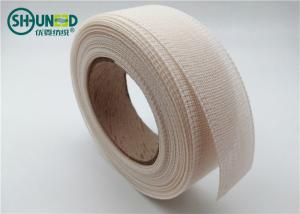 China Nylon Cotton Resin Fusible Interlining Tape Roll For Flattening Suits / Shirts on sale
