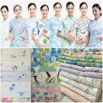 2018 hot sale nurse work wear uniforms fabric for hospital and kitchen
