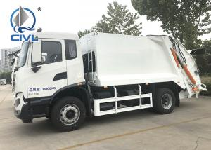 China New White 4x2 Garbage Compactor Truck City Cleaning Waste Management Garbage Truck  12 To 14 CBM on sale