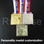 Customized individual metal medals, custom-made honour medals for martial arts competitions, gold silver bronze medal