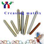 PVC Resin Fibre Metal creasing matrix for pringting