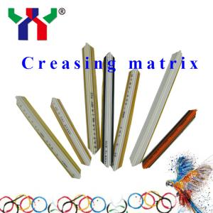China PVC Resin Fibre Metal creasing matrix for pringting on sale