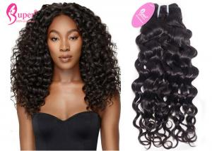 China Full Cuticle Aligned Indian Remy Hair Extensions  , Virgin Jerry Curl Human Hair Weave Bundles on sale