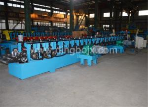 China Fully Automatic Gearbox Structure 6-8M/Min Press Punching Strut Channel Roll Forming Machine on sale