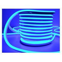 China Single Color Blue Mini Neon Flex, 100 - 120V Flexible Neon Rope Light on sale