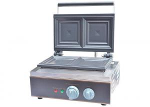 China Stainless Steel Electric Sandwich Waffle Maker Sandwich Press 1550W/220~240V, Snack Bar Equipment supplier