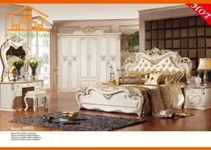 China la rota de madera de la reina de la teca sólida antigua occidental para la habitación barata de los muebles del mobiliario del dormitorio del tamaño de la reina de los niños fija on sale