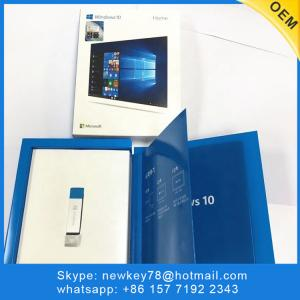 China Win 10 Home 32/64 Bit Box Pack License Key Usb Operating System Software on sale