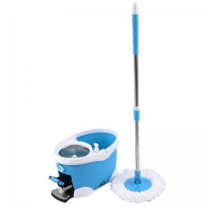 China Hot Selling Easy Cleaning 360 Rotation Spin Mop with 2 Mop Heads SS bucket Reusable Mop Heads on sale
