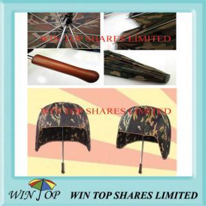 China Camouflage Safe and Windproof Helmet Umbrella on sale