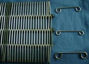 China Bandas transportadoras del anillo del alambre inoxidable, correas de vínculo del ojo del metal, correas del pasteurizador on sale