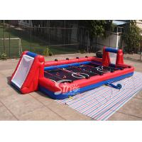 12m long 6vs6 Interactive Giant Inflatable Soccer Sports Field with aluminium pipes N gears affilted