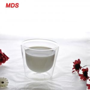Quality Elegant simple glassware 50ml small double wall glass cup for drinking for sale