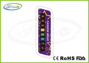 China Colorful Digital Color Change Sport Clothing Thermometer Strip For Winter Warm Care on sale