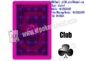 China XF JDL Plastic Playing Marked Poker Cards Marked With Invisible Markings For UV Contact Lenses And With Invisible on sale