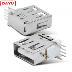 China Type A Usb Cable Male Female Connector Side Plug Type With Vertical Socket on sale
