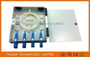 China FTTH Wall Mounted Fiber Optic Termination Box, 4 Fibers Fiber Splice Box SC Adaptor with Pigtails on sale