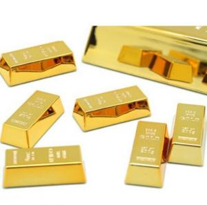 China Gold Brick Shape Refrigerator Magnets Resin Craft Gift For Home Refrigerator Decoration Souvenir Birthday Gift on sale