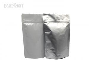 China Zip Lock Heat Seal Aluminum Foil Pouches , Foil Food Pouches For Spice / Snacks on sale