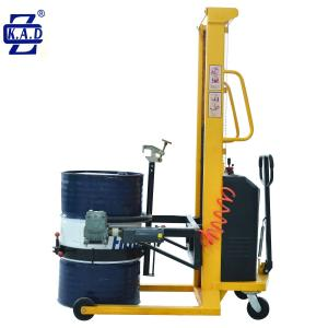 China Stainless 500kg Semi Electric Industrial Poly Hydraulic Drum Lifter on sale