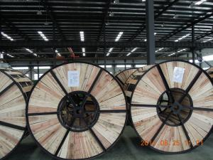 China Lightweight ACSR Aluminium Conductor Steel Reinforced Cable With Wooden Drums Packing supplier
