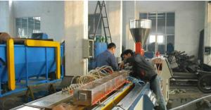 China High Speed Two Screw Plastic Profile Extruder Line For Door Frame / Ceiling on sale