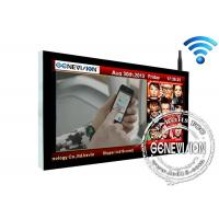 65 Inch TFT Wall Mounted Digital Signage Wifi , LCD Advertising Display Screen