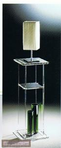 China Clear Modern Acrylic Furniture , Acrylic Side Lamp Stand / Pedestal on sale