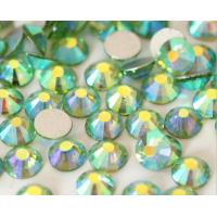 China SS20 peridot ab color Flat back crystal rhinestone Non hot fix rhinestone on sale