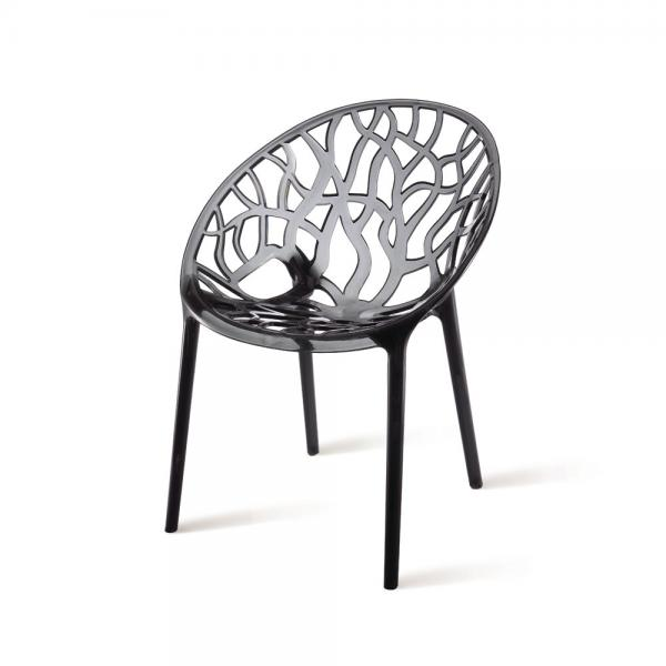 PC Turkish Design Polycarbonate Chair / Leisure Crystal Chair With Smoke  Color Images