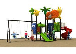China Preschool Kids Outdoor Plastic Slide Playground Equipment Anti - Static on sale