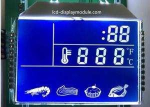 China Blue Background HTN LCD Display , 7 Segment Kitchen LCD Segment Display on sale