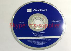 China Computer System Software Windows 8.1 Pro 64 Bit Oem Key Code / Windows 8.1 Retail Version on sale