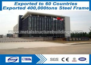 China PVC / Aluminum Windows / Door Prefabricated Steel Structures Shot Blasting on sale