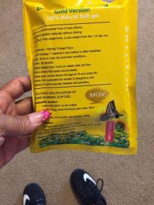 Quality MGV Meizitangの金版植物の細くの減量の柔らかいゲル、黄色いMeizitang for sale