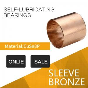 China CuSn8 / CuSn6 Tin Bronze Bushings Diamond & Ball Shaped Indents Self Lubricating Oil indentation on sale