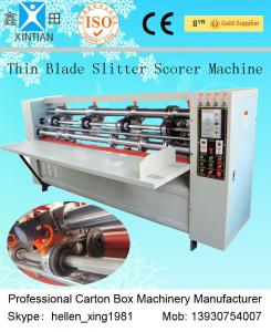 China Single Facer Vertical-cut Pressing Folding Carton Corrugated Box Packaging Machine on sale