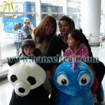 China Hansel electric toy motorized plush riding animals wholesale