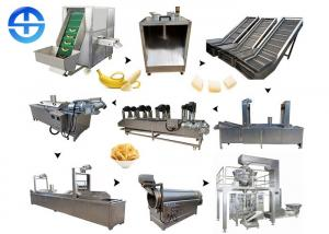 China Capacity 150kg/H Banana Chips Making Machine Easy Operation With Large Output on sale