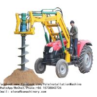 China Farm Ground Mini Excavator Post Hole Auger / Water Use Tractor Mounted Digger on sale