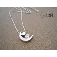 2012 latest design popular and noble silver gemstone pendant W-ZB002