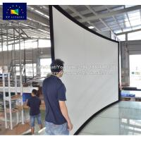 China XYSCREEN high gain home cinema advertising display 16:9 curved projection screen on sale