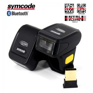 China Mini Finger Ring Barcode Scanner Reader Low - Profile Magnesium Trigger on sale