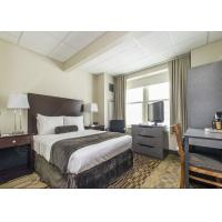 China Modern Grey Hotel Bedroom Furniture Sets Solid Wood Comfortable Environment - Friendly on sale