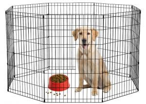 China Pet Metal Mesh Storage Boxes Playpen Dog Exercise Pen for Cats Rabbits Puppy on sale