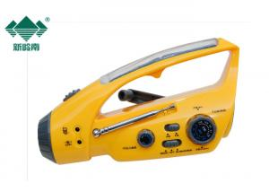 China Solar Powered Dynamo Rechargeable Radio With Flashlight / Crank Operated Radio on sale
