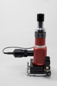 China Monocular Portable Metallurgical Microscope 100x - 500x with LED Illuminator on sale