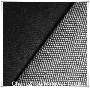 China black stretch knit denim for jeans/pants/garment on sale